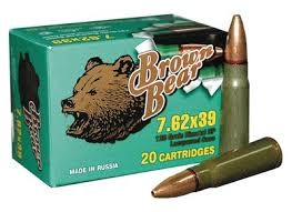 20 Round Box Brown Bear 7.62x39