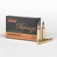 20 Round Box. PMC Bronze Rifle Ammunition .223 55grn FMJBT