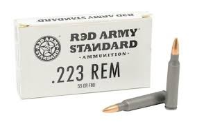 20 Round Box. Red Army Standard .223 Rem 55grn FMJ