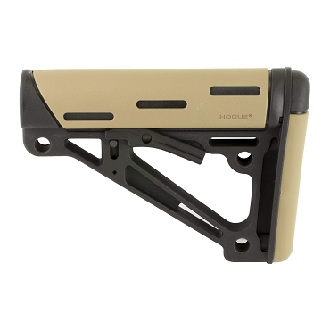 Hogue AR-15/M-16 Over-molded Collapsible Buttstock (mil-spec), FDE