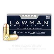 50 Round box. Speer Lawman .40 S&W 180grn FMJ