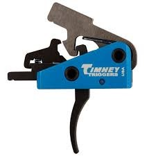 Timney AR-15 Targa (Blue) 2-stage Long First Stage Curved Trigger, 2lb